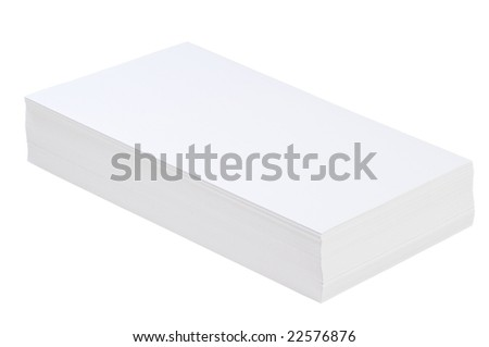 pile of white paper on a white background - stock photo