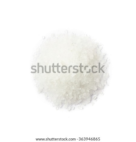 Pile of white rock salt - stock photo