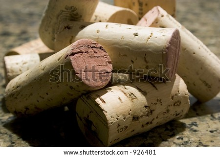 Pile of wine corks.
