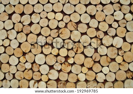 Pile of wood logs for use as Background