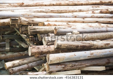 pile of wood timber for construction, material
