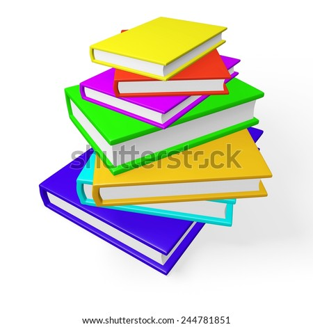 Pile or Stack of Colorful Books