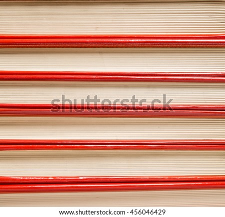 Pile-up books - close up - stock photo