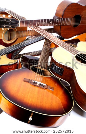 pile-up of acoustic guitars