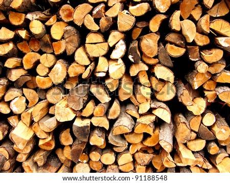 Round Firewood Pile Piled Firewood Wood Texture