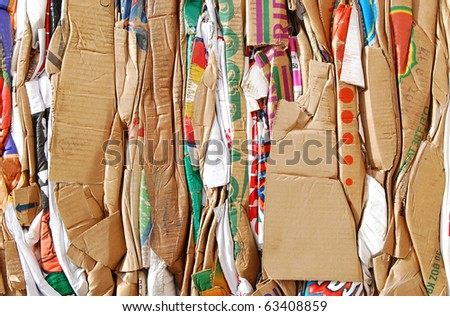 Piles of cartons background - stock photo