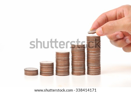piles of coins arranged as a graph