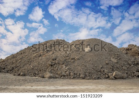 Piles of Dirt  on a building site - stock photo