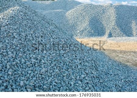 piles of gravel - stock photo