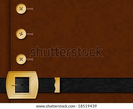 Pilgrim Jacket & Belt Background - stock photo
