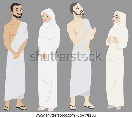 Pilgrims - stock photo