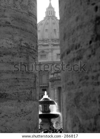 Pilgrims praying and supporting the pop at st. peters square a day before he died - stock photo