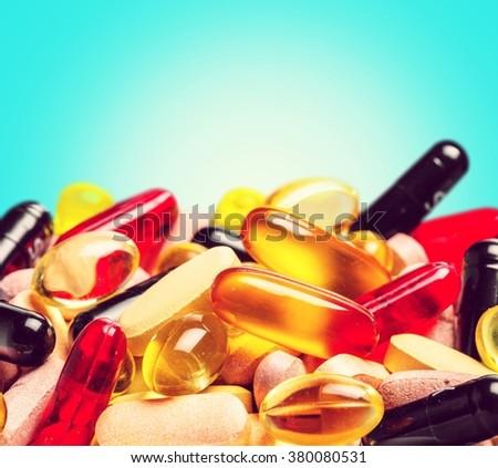Pill. - stock photo