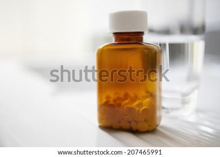 Pill Bottle - stock photo