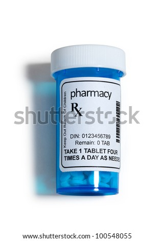Pill Bottle, concept for Healthcare And Medicine - stock photo