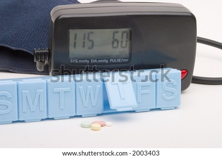pill box and blood pressure