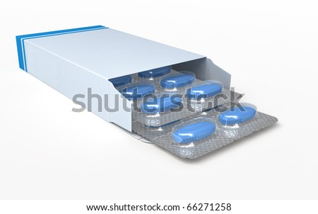 pill box (clipping path) - stock photo