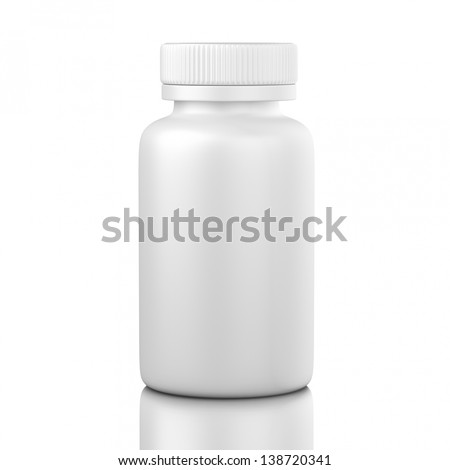 pill box unlabeled for medicine isolated - stock photo