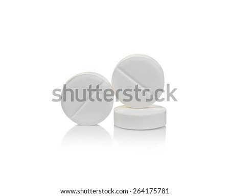 Pill isolated on white background - stock photo