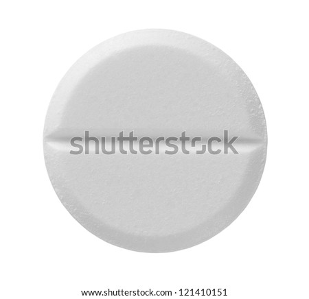 Pill isolated on white background with clipping path - stock photo