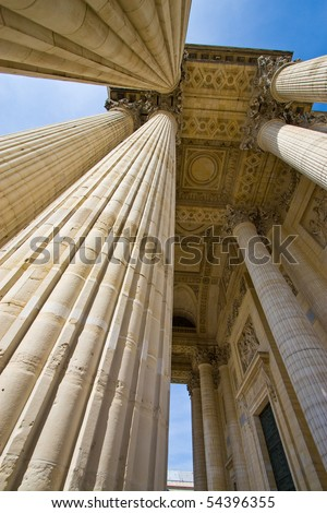 pillar columns - stock photo
