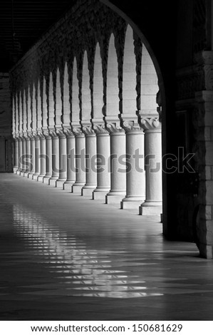 Pillar Light Black and White - stock photo