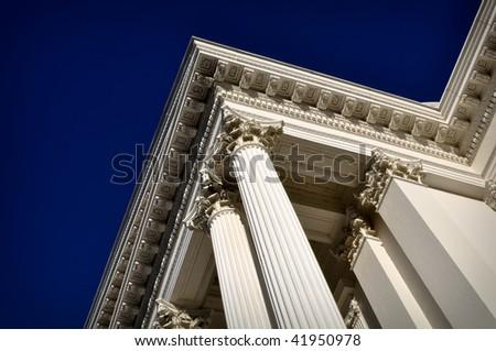 Pillar of Success at a California Government Building - stock photo