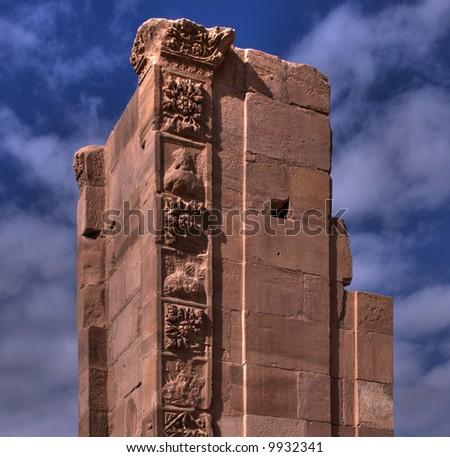 Pillar Ruin on Sky - stock photo