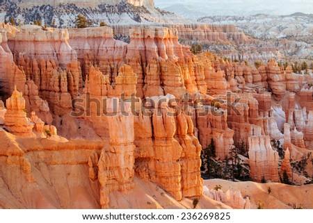Pillars at Bryce Canyon nation park, Utah, USA. - stock photo