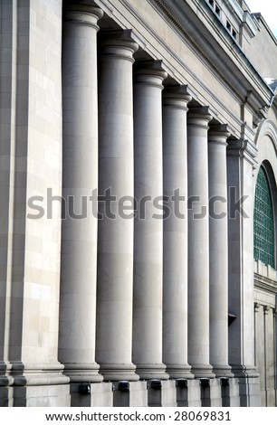 Pillars at Canadian Government Building in Ottawa