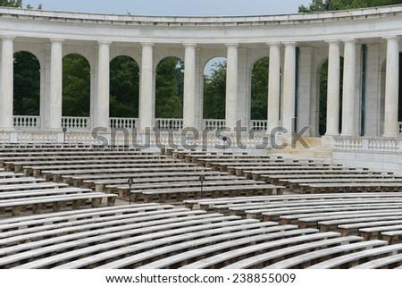 Pillars in an amphitheater - stock photo