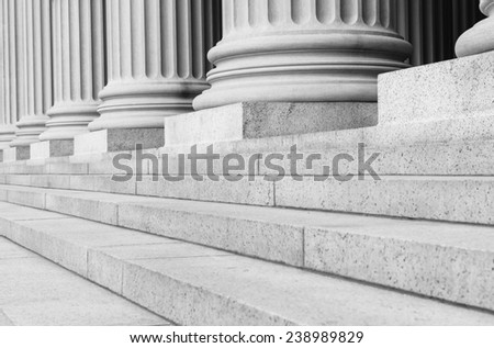 Pillars in Black and White - stock photo