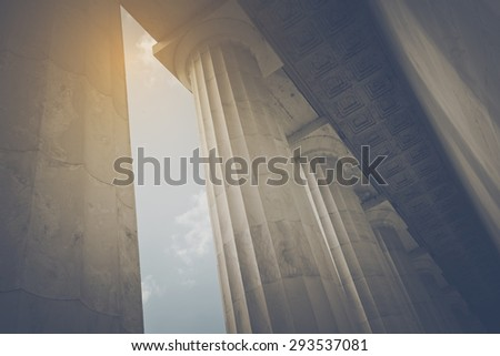 Pillars in Retro Instagram Style - stock photo