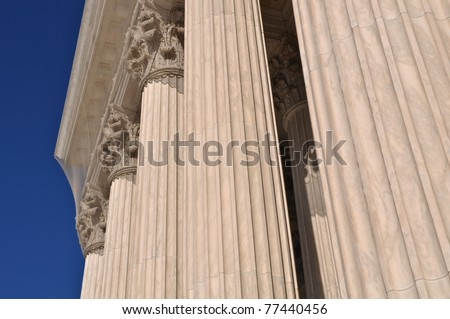 Pillars of Law and Justice located at the Supreme Court of the United States of America