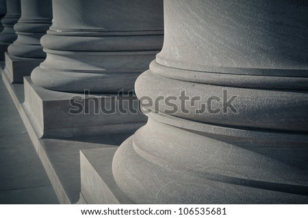 Pillars of Law and Order - stock photo