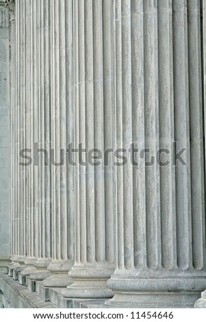 Pillars of Strength from a old monument - stock photo