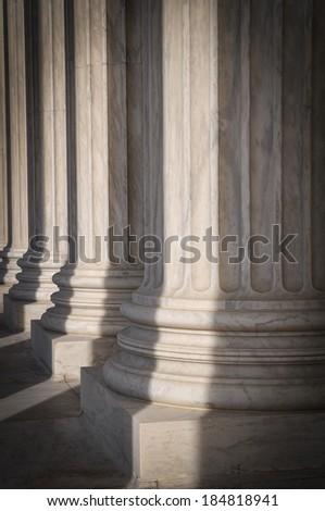 Pillars of the Supreme Court - stock photo