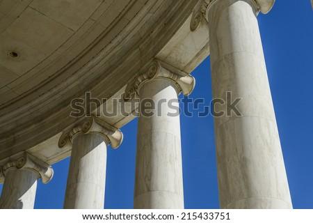 Pillars with Blue Sky - stock photo