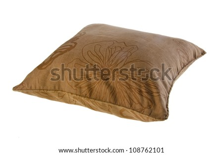 pillow, bright pillow on the background. - stock photo