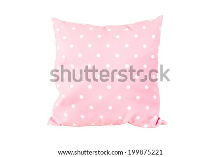 pillow dot pink color on white background - stock photo