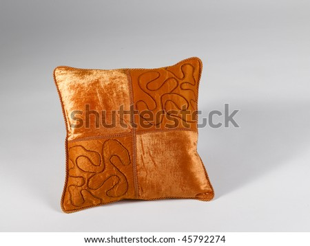 pillow gold - stock photo
