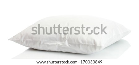 pillow isolated on white - stock photo