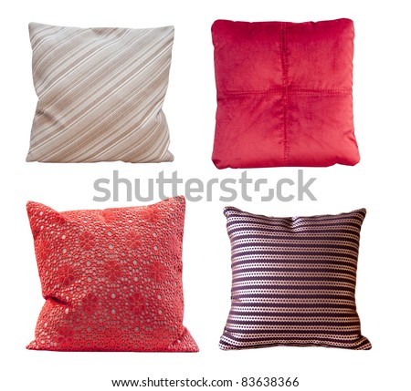 pillow isolated on white background - stock photo