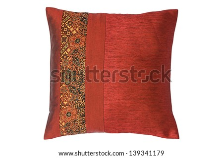 Pillow isolated on white background with clipping path - stock photo