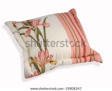 Pillow on white background - stock photo