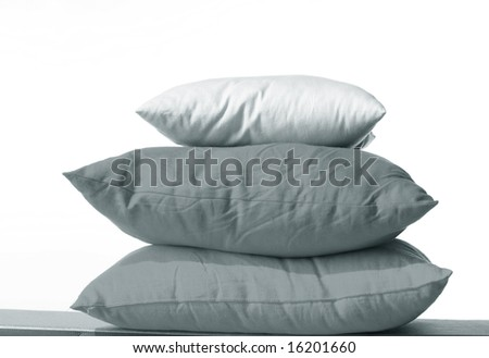 pillow white red yellow sleep - stock photo
