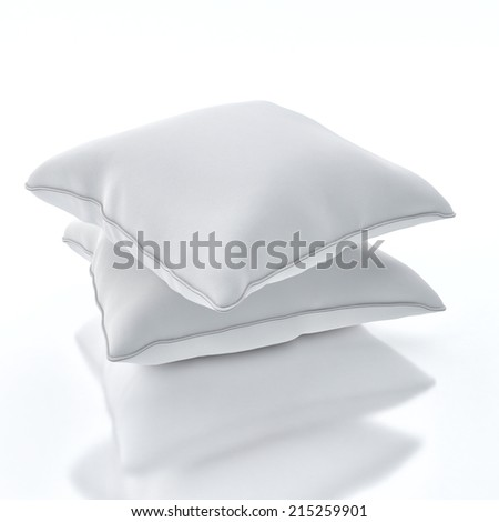 Pillows isolated on white background - stock photo