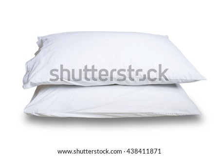 Pillows isolated on white on white background. This has clipping path.