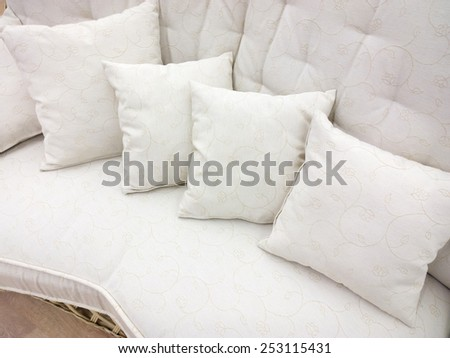 Pillows on the couch.  - stock photo