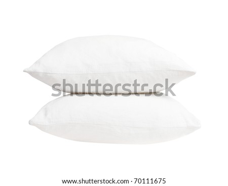 Pillows on white background - stock photo